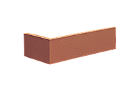 Угловой элемент плитки клинкерной King Klinker Dream House цвет 01 Ruby-Red размер 250/120x65x10 мм.