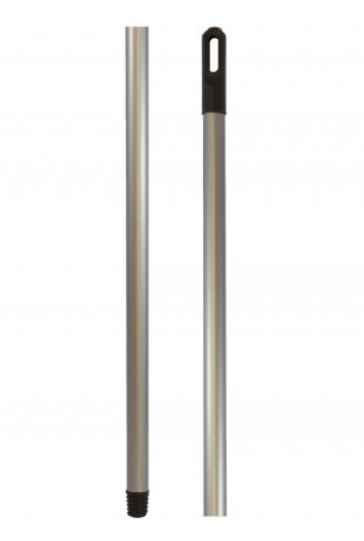 Рукоятка цільносталева з пластиковим покриттям., 110*0,2 см, срібна, R-110 жолобчаста поверхня
