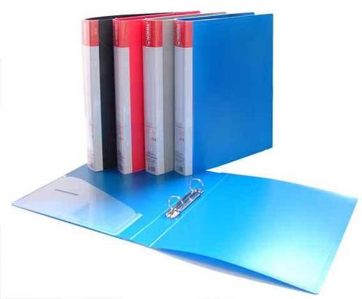 Накопичувач А4 2.5см синій Norma, фото 2