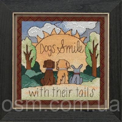 Набор для вышивки Dogs Smile Mill Hill