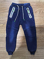 Брюки под джинс утепленные для мальчиков оптом, Seagull, 98-128 см,  № CSQ-56945, фото 1
