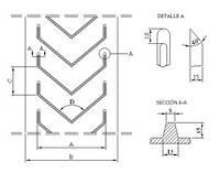 Шевронная конвейерная лента Beltsiflex КAF 15