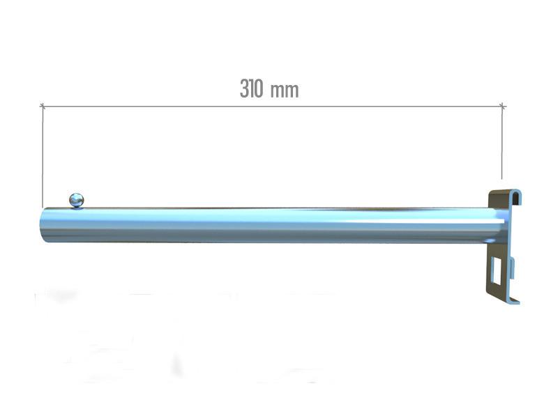 Торгова флейта кронштейн пряма на сітку 310мм в хромі