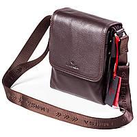 Мужская сумка кожаная коричневая Eminsa 6097-18-3