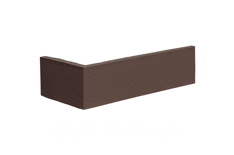 Угловой элемент плитки клинкерной King Klinker Dream House цвет 02 Natural brown размер 250/120x65x10 мм.