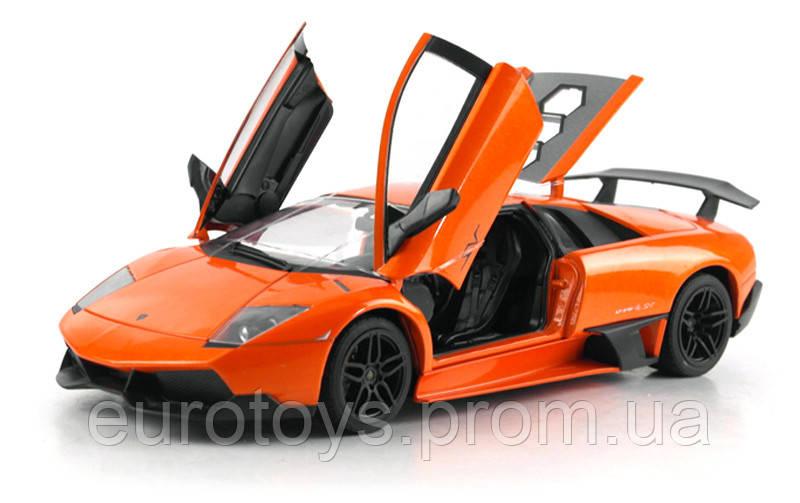 Машинка радиоуправляемая 1:18 Meizhi Lamborghini LP670-4 SV металлическая (оранжевый)