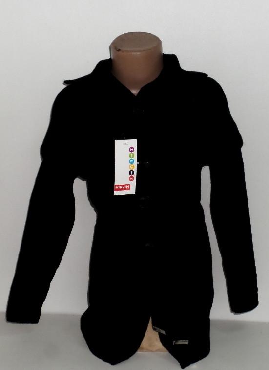 """Детский вязанный кардиган на девочку с поясом """" Карман """" 6,7,8 лет 5489612730335"""
