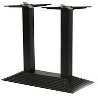 Опора для столу - База Піраміда подвійна, Чорна