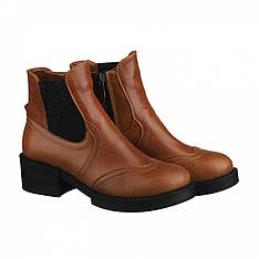 Рыжие демисезонные женские ботинки челси Villomi размер 36 37 38 39 40 41