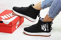 Зимние кроссовки Nike Air Force, артикул: 6406 Черный/белый