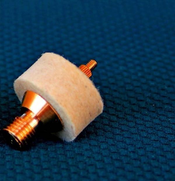 Адаптер-иголка A2S для ружейных шомполов, резьба M5 внешняя, латунь