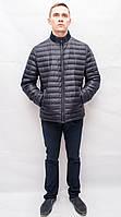 Мужская куртка деми весна осень короткая спортивная классика на пуху