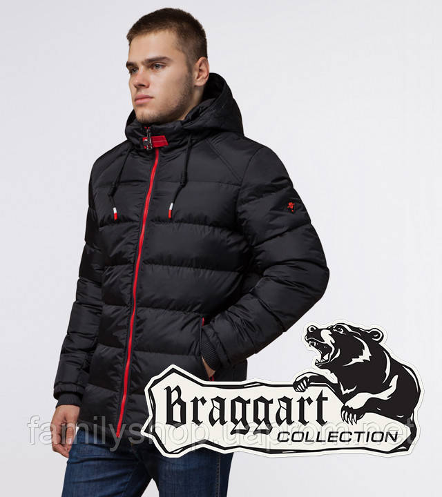 Braggart 'Aggressive' 10168 | Зимняя куртка мужская черный-красный