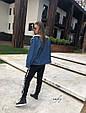 Джинсовая курточка утепленная искусственной овчиной синий, фото 5