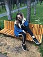 Джинсовая курточка утепленная искусственной овчиной синий, фото 6