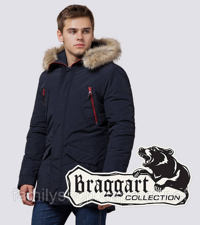 Braggart - Arctic 37560 | Зимняя парка мужская т-синяя