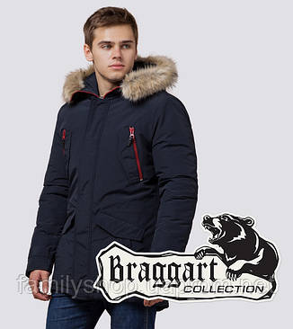 Braggart - Arctic 37560 | Зимняя парка мужская т-синяя, фото 2