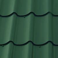 Зеленая металлочерепица 6005 глянцевая матовая