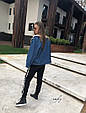 Джинсовая курточка утепленная искусственной овчиной, фото 5