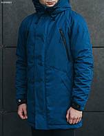 Зимняя мужская синяя парка Staff craft blue, фото 1