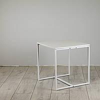 Стол журнальный Куб 400/450 Жемчужный - белый (Cub 400/450 white-white), фото 1