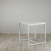 Стол журнальный Куб 400/450 Жемчужный - белый (Cub 400/450 white-white)