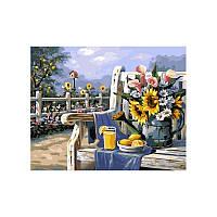 Картина по номерам УТРО В САДУ 40х50 см