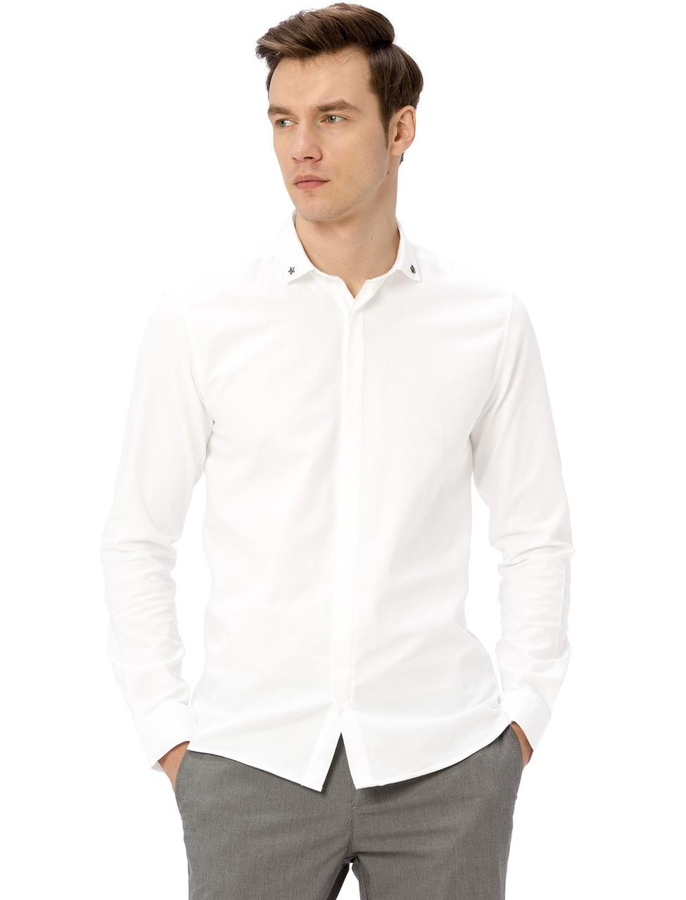 Біла чоловіча сорочка LC Waikiki / ЛЗ Вайкікі