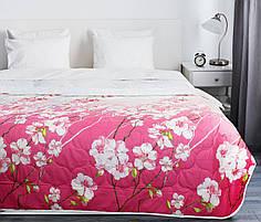 Покрывало на кровать, диван 145х210 хлопковое Ветка сакуры