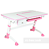 Детский стол-трансформер FunDesk Amare Pink с выдвижным  ящиком