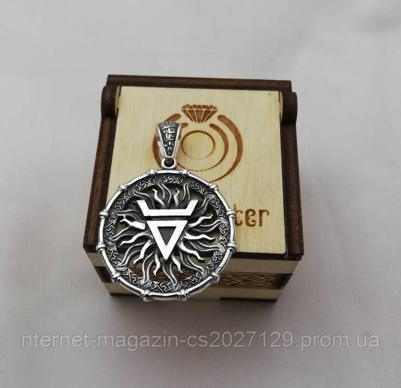 Славянский оберег Печать Велеса серебро 925