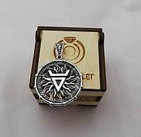Славянский оберег Печать Велеса серебро 925, фото 1