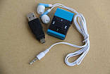 MP3 плеер алюминевый, USB зарядное+Наушники +Упаковка, фото 3