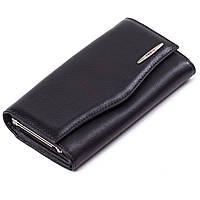 Женский кошелек кожаный черный Eminsa 2023-12-1, фото 1