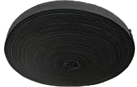 Тесьма х/б чорна 23 мм*50 м