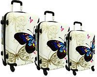 Дорожный чемодан на колесах RGL 5188, набор 3 штуки, фото 1