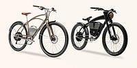 Класичний електровелосипед і велосипед під класичний мотоцикл