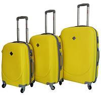 Дорожный чемодан на колесах Bonro Smile, набор 3 штуки