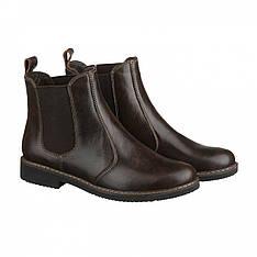 Коричневые кожаные  демисезонные женские ботинки челси Villomi размер 36 37 38 39 40 41.  vm-1018-03kor