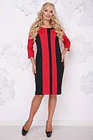 Прямое батальное платье, размеры 50-62