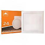 Світлодіодний вбудований світильник ЕВРОСВЕТ LED-S-300-24 24W 4200K/6400K, фото 7