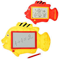 Досточка 222-1 для малювання, ч/б, рибка, ручка, кул., 31-21,5-3,5 см.
