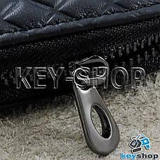 Ключниця кишенькова (шкіряна, чорна, з тисненням, на блискавці, з карабіном) логотип авто Honda (Хонда), фото 2