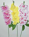 М-365 Ветка орхидей малая 7 голов 65х8 см, фото 2