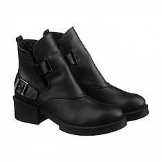 Демисезонные кожаные женские ботинки на низькому каблуке челси Villomi размер 36 37 38 39 40 41.  VM-7917-01