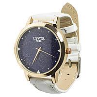 ➢Стильные часы LSVTR 1853 White красивые часы для девушек и женщин кварцевый механизм дизайнерский ремешок