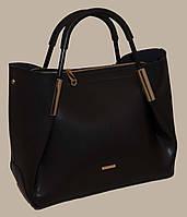 Черная женская сумка B.Elit с отстёгивающейся косметичкой