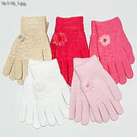 Детские двойные перчатки на девочек 6-9 лет - №18-7-18, фото 1