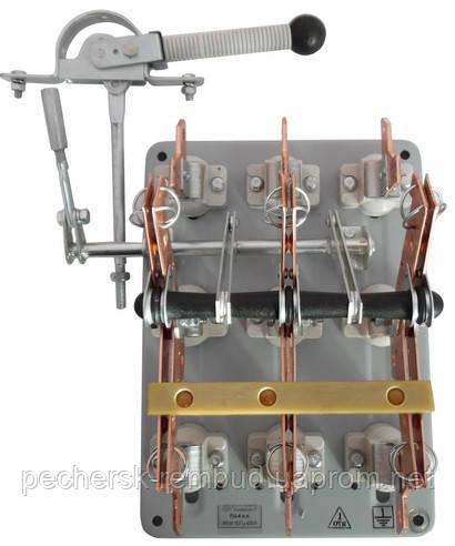 Рубильник переключатель ПЦ 250А левый смещенный привод