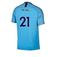 Детская футбольная форма Манчестер сити голубая Silva (Сильва)  сезон 2018-2019, фото 1